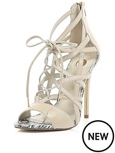 river-island-river-island-flynn-nude-tie-up-sandal