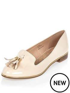 river-island-river-island-patent-nude-tassle-loafer