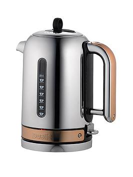 Dualit 72820 Polished Chrome With Copper Trim Classic Kettle