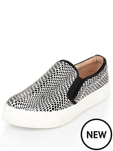 river-island-slip-on-plimsoll-shoes