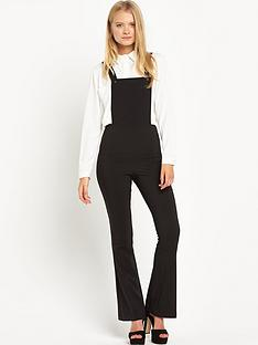 miss-selfridge-miss-selfridge-smart-kick-flare-dungaree
