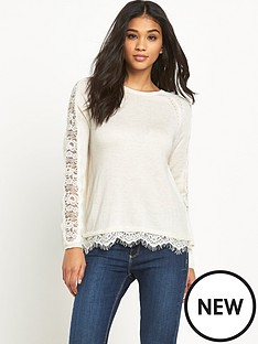 miss-selfridge-lace-back-2-in-1-jumper