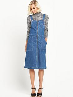 miss-selfridge-zip-through-midi-pinny-dress