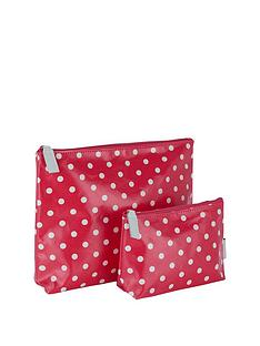 victoria-green-set-of-2-cosmetic-bags-polka-dot-print