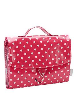 victoria-green-threefold-hanging-bag-polka-dot-print