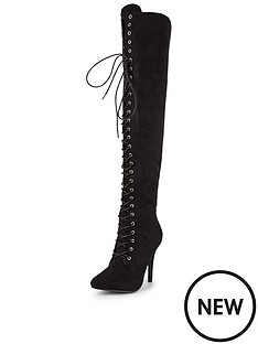 glamorous-over-the-knee-lace-up-boot