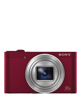 Sony Dscwx500 18 Megapixel Compact Camera With 30X Optical Zoom  Red
