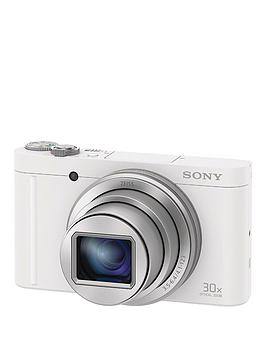 Sony Dscwx500 18 Megapixel Compact Camera With 30X Optical Zoom  White