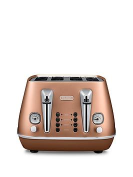 Delonghi Ct14003.Cp Distinta 4Slice Toaster  Copper