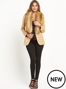 river-island-faux-fur-collar-blazer