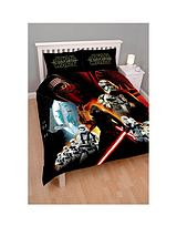 Star Wars Poster Panel Duvet Cover and Pillowcase Set in Double Size