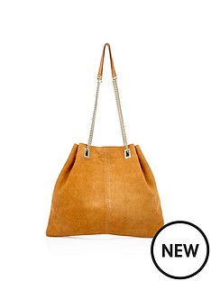 river-island-river-island-suede-chain-handle-bag