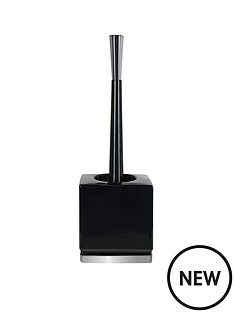 spirella-roma-black-silver-toilet-brush
