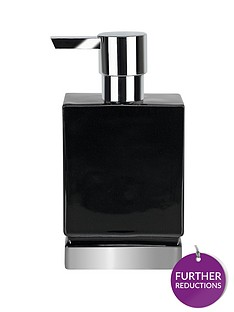 spirella-roma-black-silver-soap-dispenser