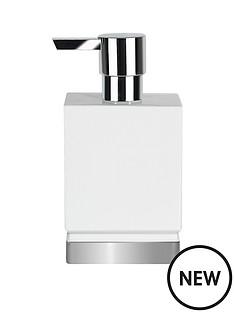 spirella-roma-white--silver-soap-dispenser