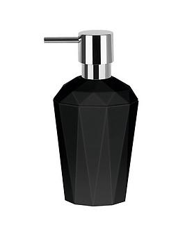 spirella-crystal-black-soap-dispenser