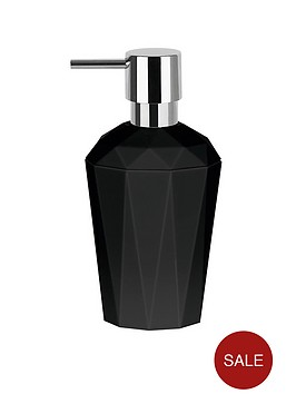 spirella-spirella-crystal-black-soap-dispenser