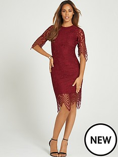 rochelle-humes-eyelash-lace-midi-dress