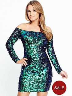 samantha-faiers-sequin-long-sleeve-bodycon-dress