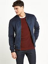 RIVER ISLAND SUEDE BONDED BOMBER