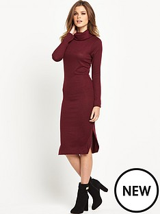 river-island-long-sleeve-cowl-neck-bodycon-dress
