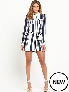river-island-stripe-long-sleeved-playsuit