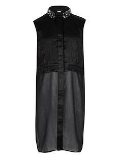 river-island-girls-black-embellished-collar-long-line-shirt