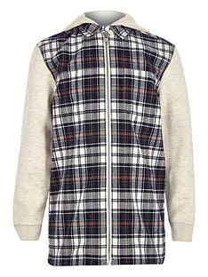 river-island-boys-hooded-ecru-shirt-with-check-front