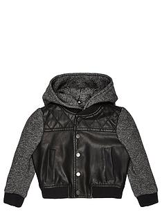 river-island-mini-mini-boys-pu-bomber-with-grindle-sleeves-and-hood