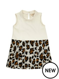 river-island-mini-mini-girls-cream-leopard-print-dress