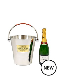 laurent-perrier-brut-champagne-with-stainless-steel-ice-bucket