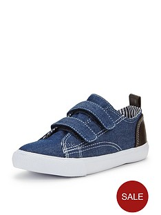 ladybird-younger-boys-wolf-strap-plimsolls