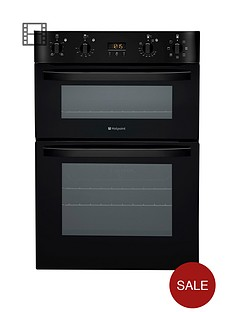 hotpoint-ultima-dh93ck-multifunction-electric-double-oven-black