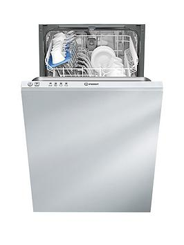 Indesit Ecotime Dsr14B 10Place Slimline BuiltIn Dishwasher   Dishwasher Only