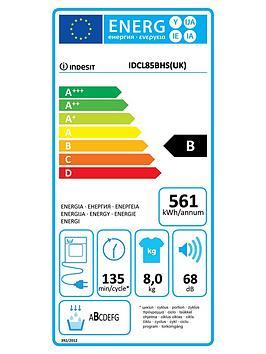 indesit-idcl85bhs-8kg-sensor-condenser-dryer-silver
