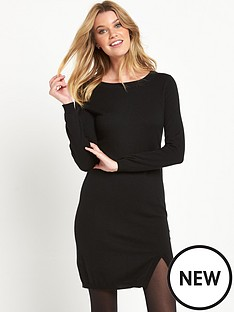 south-split-front-knitted-dress