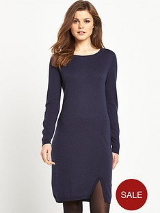 south-split-front-knotted-dress