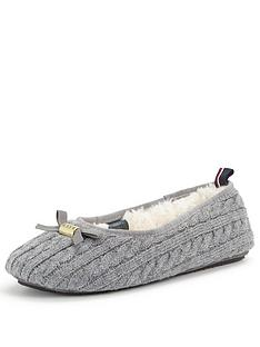 tommy-hilfiger-knitted-grey-ballerina-slipper