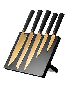 titanium-gold-knife-block-6-piece