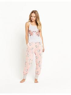 mink-pink-birds-of-a-feather-pyjama-tank-top
