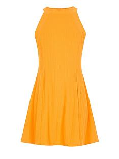 river-island-girls-orange-ribbed-skater-dress