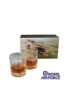 personalised-raf-whisky-glass-set