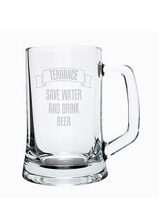 personalised-save-water-drink-beer-glass-tankard