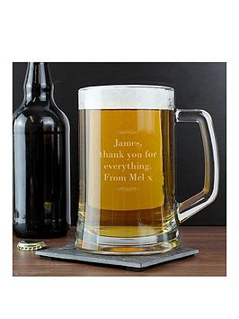 Very Personalised Decorative Glass Tankard Picture