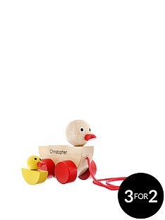 personalised-wooden-duck-pull-along-toy