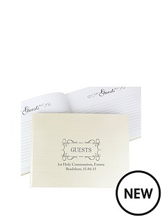 personalised-elegant-swirl-guest-book-and-pen