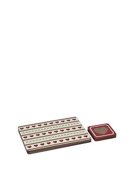 sabichi-hearts-coaster-and-placemat-set
