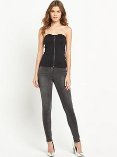 v-by-very-zip-front-bustier-top