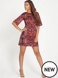 rochelle-humes-rochelle-floral-shift-wide-sleeve-dress