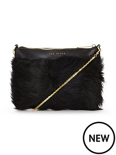 ted-baker-faux-fur-clutch-bag